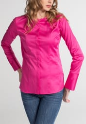 ETERNA CHEMISIER À MANCHES LONGUES SLIM FIT ROSE UNI