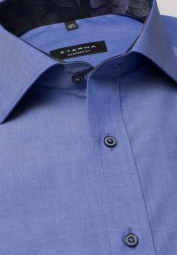 ETERNA CHEMISE À MANCHES LONGUES COMFORT FIT CHAMBRAY TURQUOISE UNI
