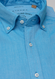 ETERNA CHEMISE À MANCHES COURTES REGULAR FIT UPCYCLING SHIRT OXFORD TURQUOISE UNI
