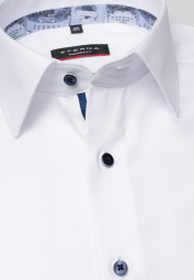 ETERNA CHEMISE À MANCHES LONGUES MODERN FIT TWILL BLANC UNI
