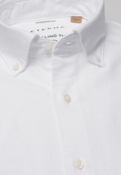 ETERNA CHEMISE À MANCHES LONGUES REGULAR FIT UPCYCLING SHIRT OXFORD BLANC UNI
