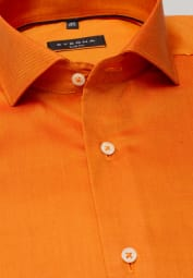 ETERNA CHEMISE À MANCHES LONGUES SLIM FIT OXFORD ORANGE UNI