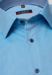 ETERNA CHEMISE À MANCHES COURTES MODERN FIT CHAMBRAY TURQUOISE UNI