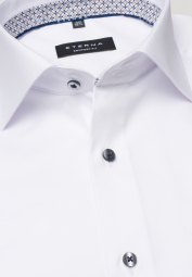 ETERNA CHEMISE À MANCHES LONGUES COMFORT FIT COVER SHIRT TWILL BLANC UNI