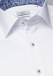 ETERNA CHEMISE À MANCHES LONGUES MODERN FIT GENTLE SHIRT TWILL BLANC UNI