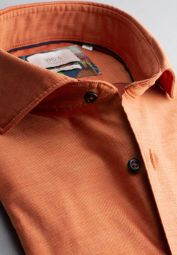 ETERNA CHEMISE À MANCHES LONGUES COMFORT FIT SOFT TAILORING TWILL ORANGE UNI