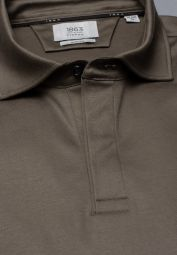 ETERNA POLOSHIRT À MANCHES COURTES SLIM FIT SOFT TAILORING JERSEY TAUPE UNI