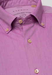 ETERNA CHEMISE À MANCHES LONGUES SLIM FIT UPCYCLING SHIRT OXFORD FUCHSIA UNI