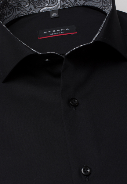 ETERNA CHEMISE À MANCHES LONGUES MODERN FIT PINPOINT ANTHRACITE UNI