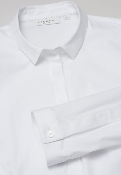 ETERNA CHEMISIER À MANCHES LONGUES SLIM FIT STRETCH BLANC UNI